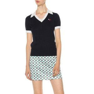 TORY BURCH Performance Cashmere-Blend Polo Sweater